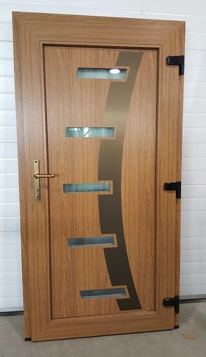 Vchodové dveře s HPL dveřní výplní - Vchodové dveře s HPL dveřní výplní GAVA 885