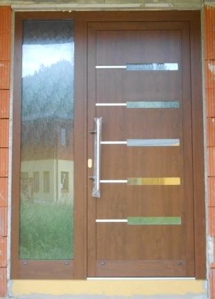 Vchodové dveře s HPL dveřní výplní - Vchodové dveře s HPL dveřní výplní GAVA 953