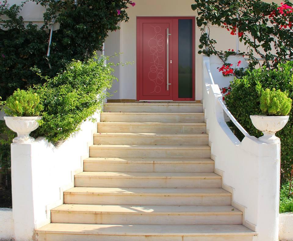 Vchodové dveře s hliníkovou dveřní výplní GAVA - Vchodové dveře s hlínikovou dveřní výplní GAVA 481