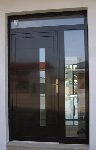 Vchodové dveře s hliníkovou dveřní výplní GAVA - Vchodové dveře s hlínikovou dveřní výplní GAVA 417