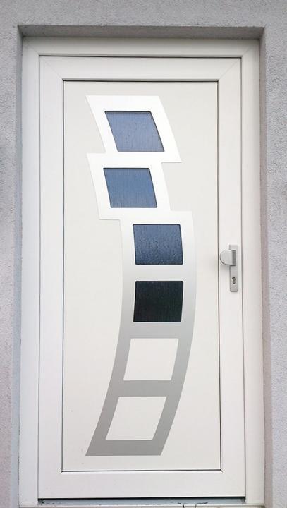 Vchodové dveře s HPL dveřní výplní - Vchodové dveře s HPL dveřní výplní GAVA 891