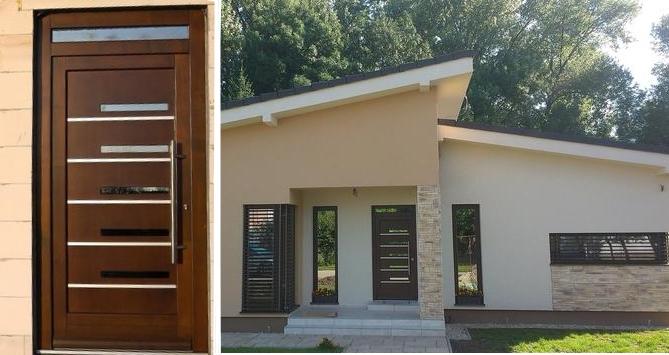 Vchodové dveře s HPL dveřní výplní - Vchodové dveře s HPL dveřní výplní GAVA 954