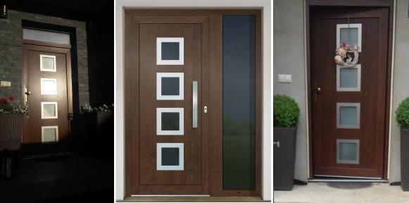 Vchodové dveře s HPL dveřní výplní - Vchodové dveře s HPL dveřní výplní GAVA 961a