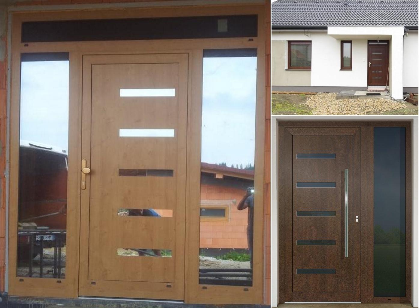 Vchodové dveře s HPL dveřní výplní - Vchodové dveře s HPL dveřní výplní GAVA 916