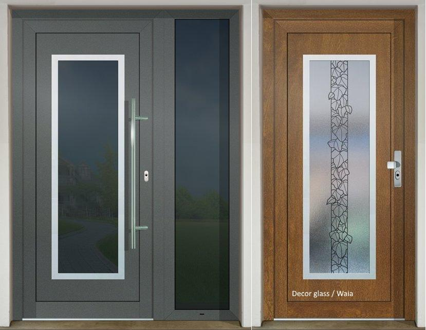 Vchodové dveře s HPL dveřní výplní - Vchodové dveře s HPL dveřní výplní GAVA 701