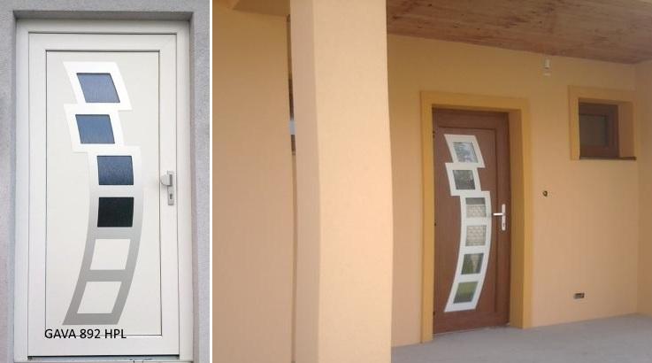 Vchodové dveře s HPL dveřní výplní - Vchodové dveře s HPL dveřní výplní GAVA 892