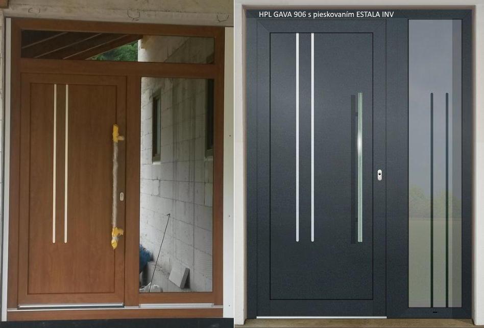 Vchodové dveře s HPL dveřní výplní - Vchodové dveře s HPL dveřní výplní GAVA 906