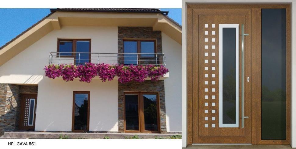 Vchodové dveře s HPL dveřní výplní - Vchodové dveře s HPL dveřní výplní GAVA 861