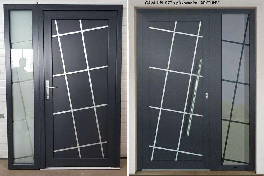 Vchodové dveře s HPL dveřní výplní - Vchodové dveře s HPL dveřní výplní GAVA 670