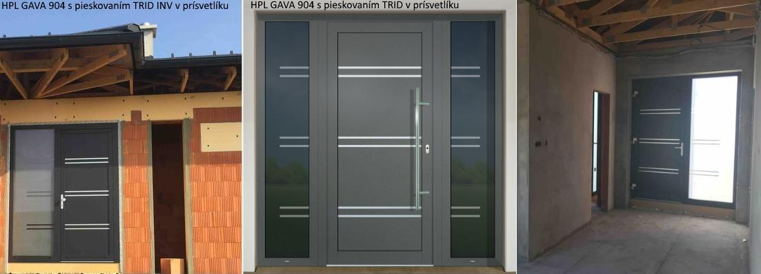 Vchodové dveře s HPL dveřní výplní - Vchodové dvere s HPL dvernou výplňou GAVA 904