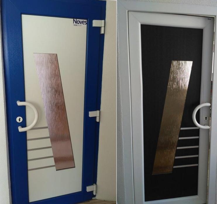 Vchodové dveře s HPL dveřní výplní - Vchodové dveře s HPL dveřní výplní GAVA 681