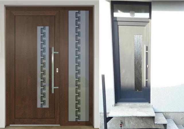 Vchodové dveře s HPL dveřní výplní - Vchodové dveře s HPL dveřní výplní GAVA 913