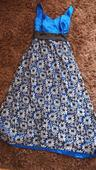 Kráľovské kvietkované spoločenské šaty, 48