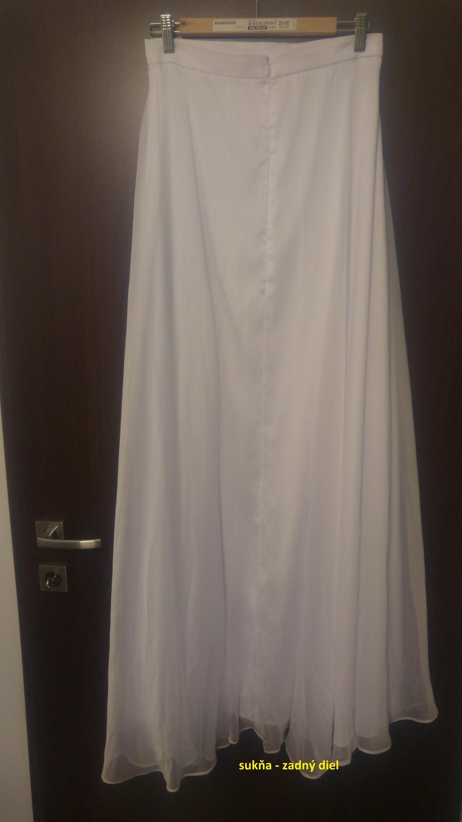 Jednoduchá biela svadobná sukňa   - Obrázok č. 3
