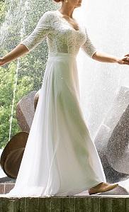 Jednoduchá biela svadobná sukňa   - Obrázok č. 4
