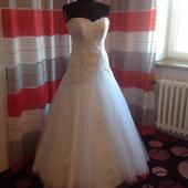 Svatební šaty s krajkovým korzetem, 36
