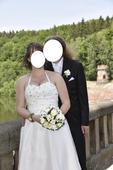 Svatební šaty pro baculky - vel. 44 , 44