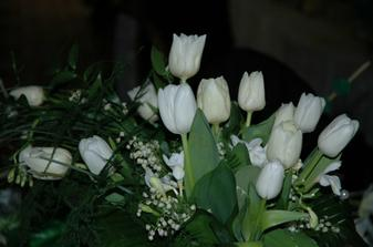 moja kyticka - tulipany a konvalinky - vydrzala az do utorka