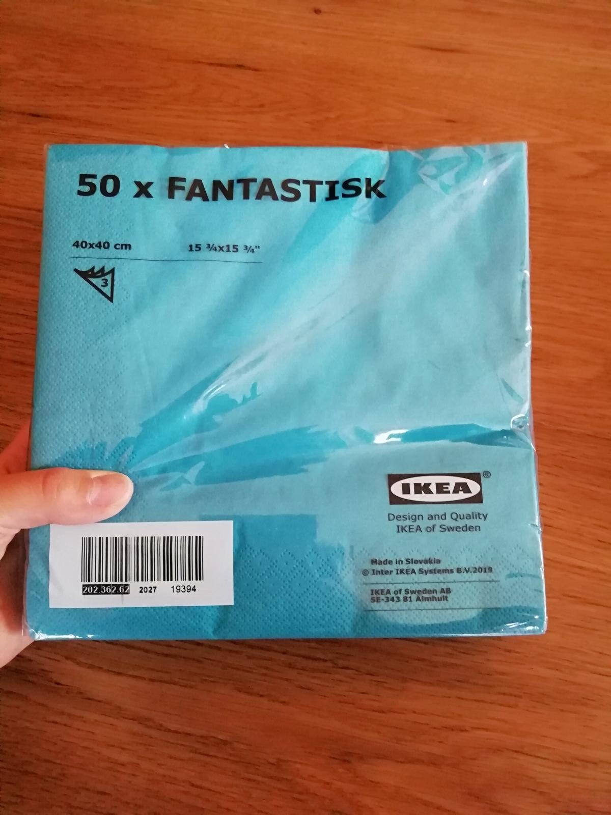 Ubrousky IKEA FANTASTISK - tyrkysové - Obrázek č. 1