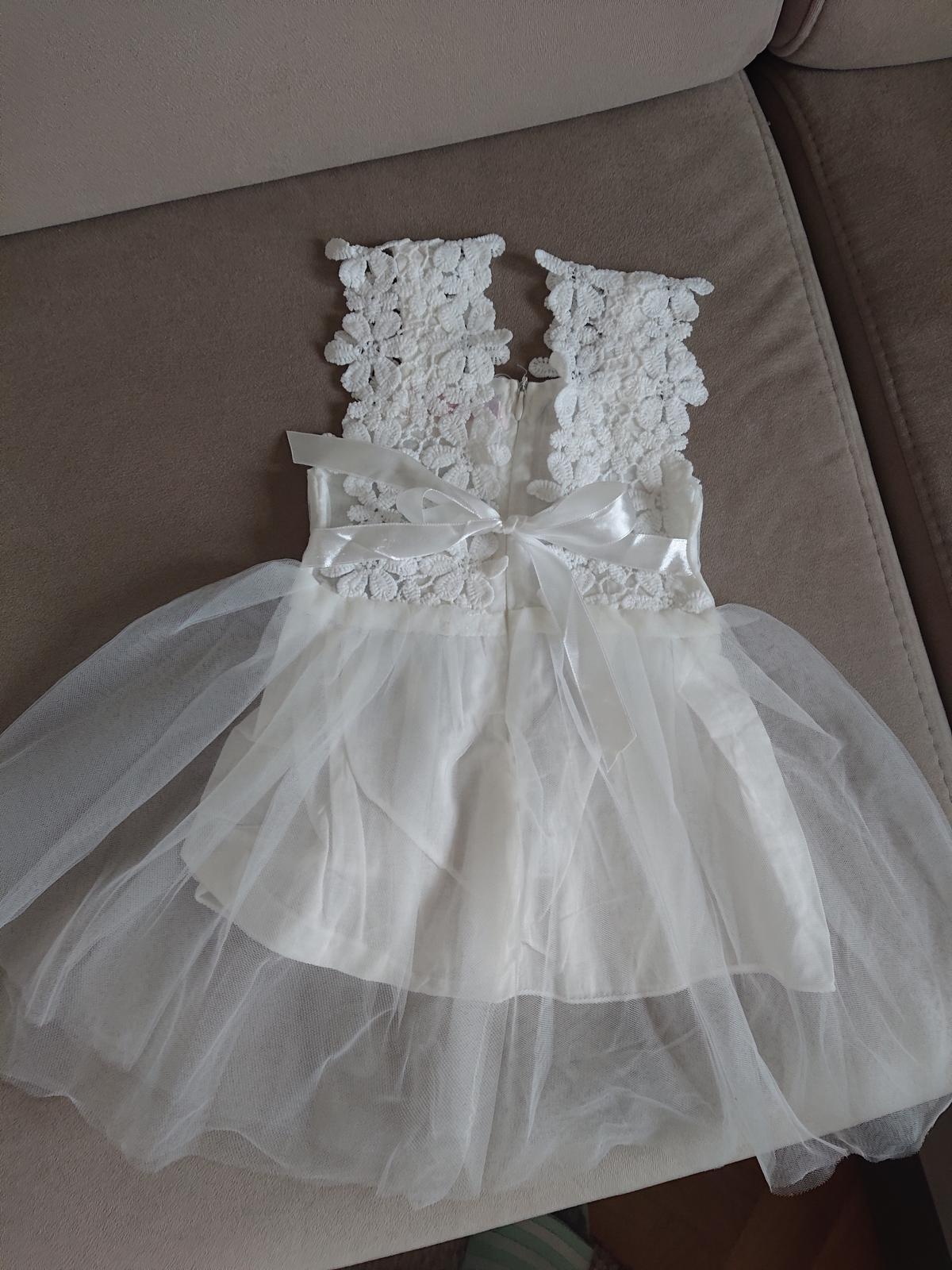 Dětské svatební šaty (vel. 80) - Obrázek č. 1