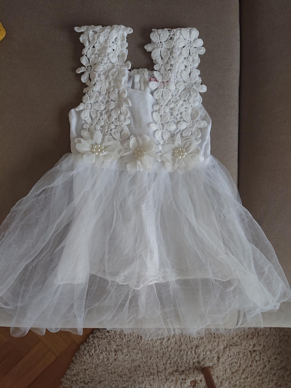 Dětské svatební šaty (vel. 92) - Obrázek č. 1