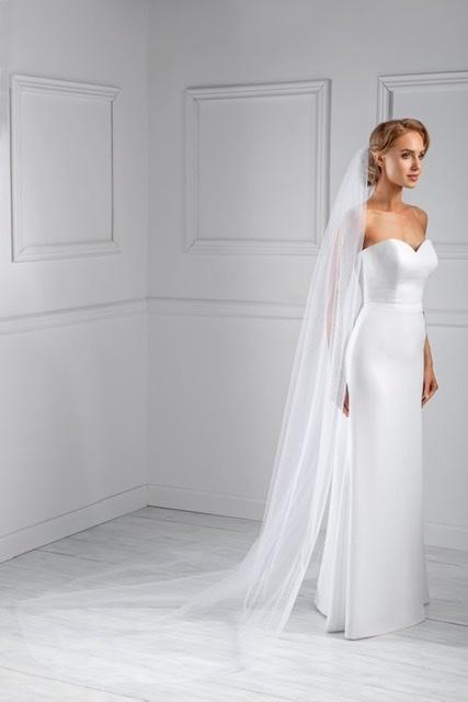 Svatební závoj bílý 250cm - Obrázek č. 1