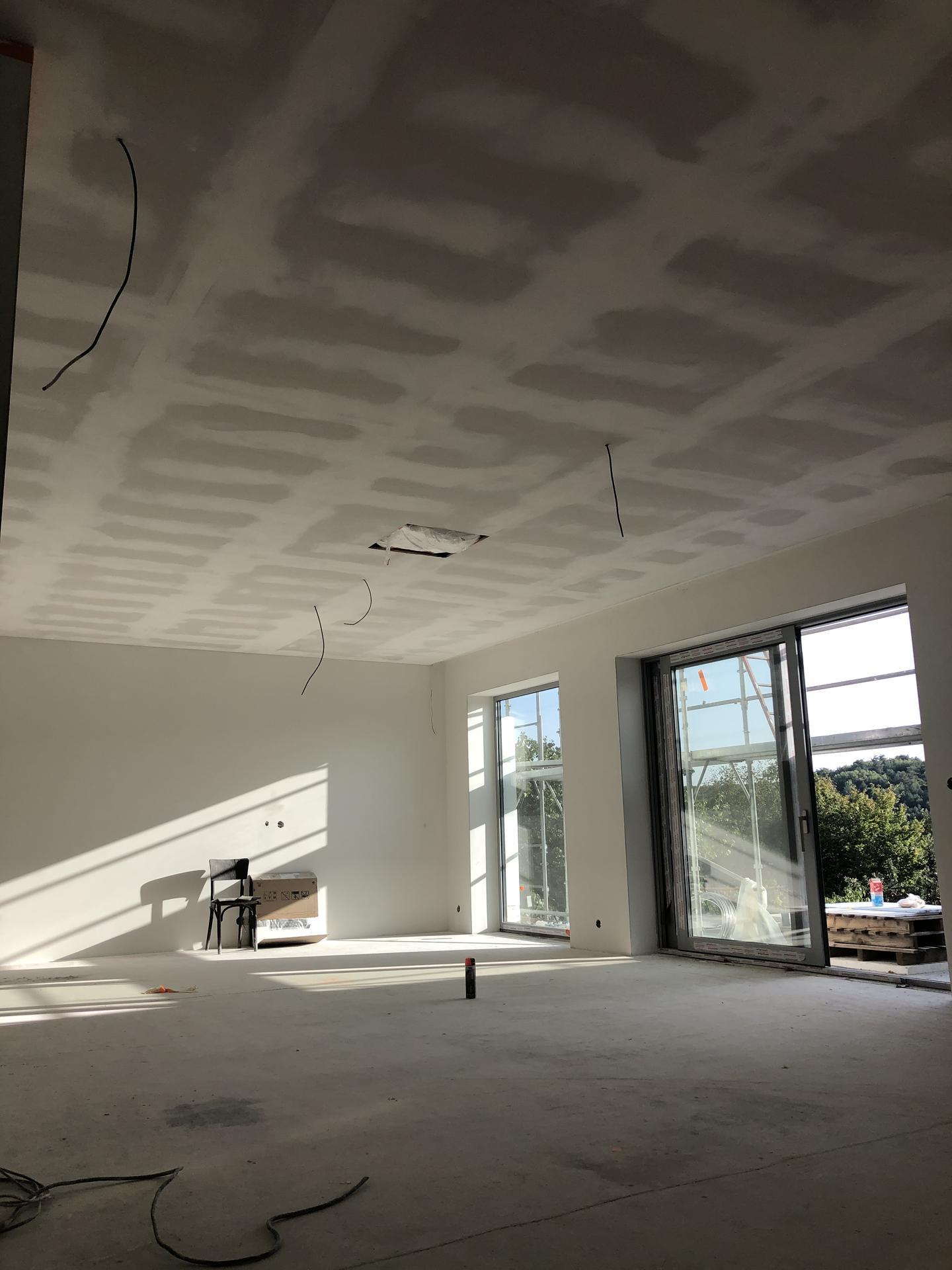Rekonštrukcia domu - Sadrokartónový strop 1.np