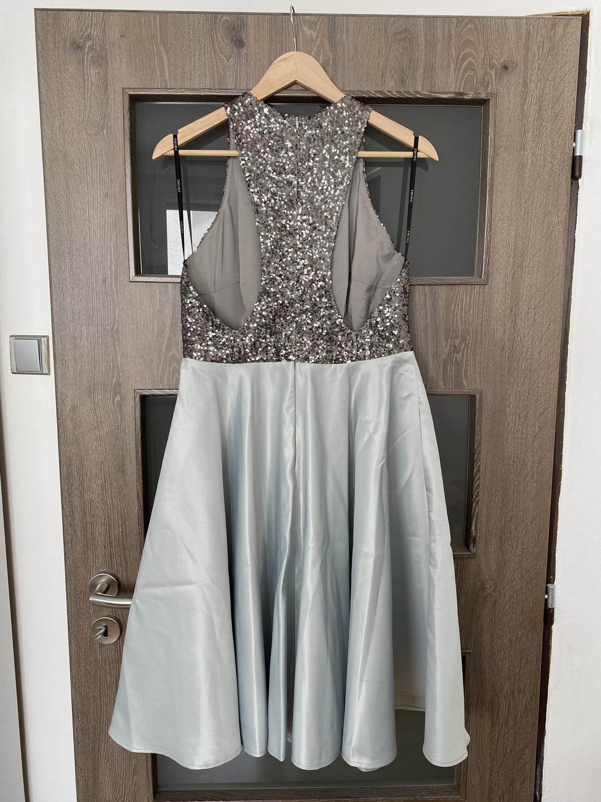 NOVÉ popolnočné šaty s flitrami (veľ. 40) - Obrázok č. 2
