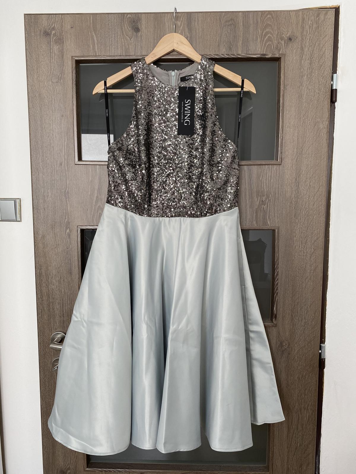 NOVÉ popolnočné šaty s flitrami (veľ. 40) - Obrázok č. 3