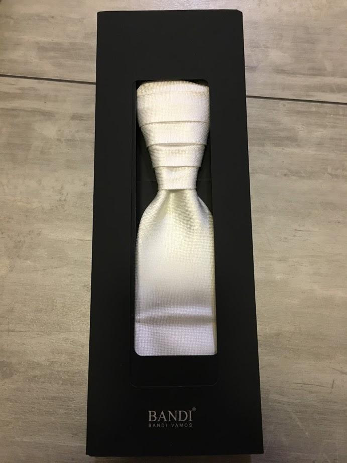 Svatební kravata BANDI (ivory) - Obrázek č. 1