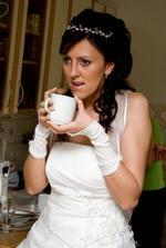 nevesta s horúcim čajíkom po fotení :O)