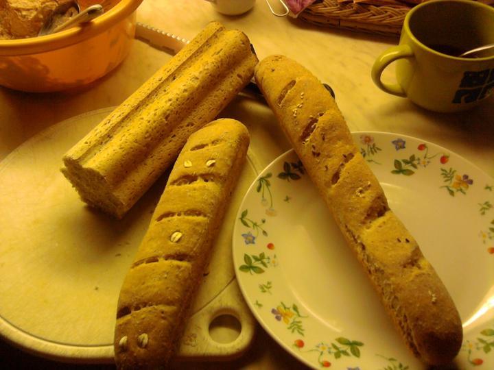 Pečení,vaření,grilování.....je libo něco dobrého do bříška ................ - Grahamové bagety
