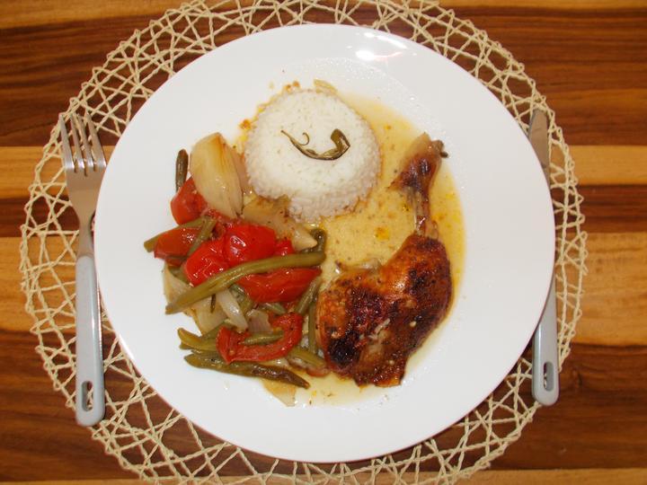 Pečení,vaření,grilování.....je libo něco dobrého do bříška ................ - Kuře na zelenině