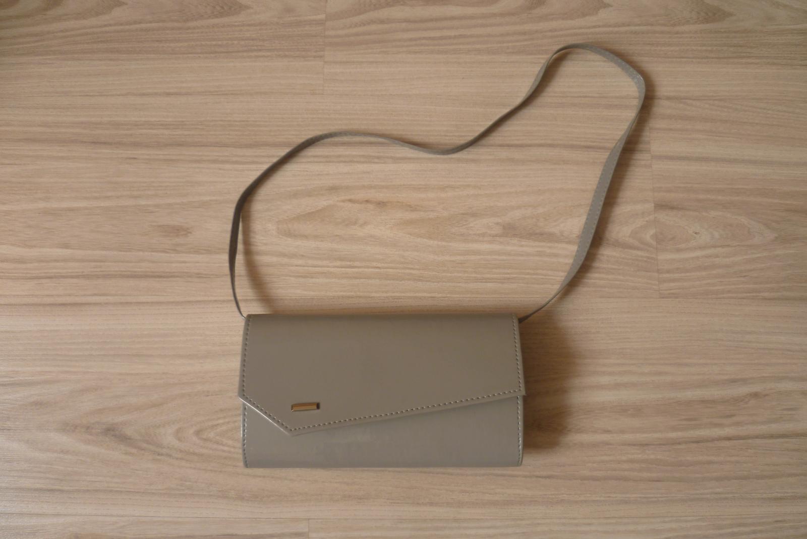 Spoločenská kabelka - sivá - Obrázok č. 2