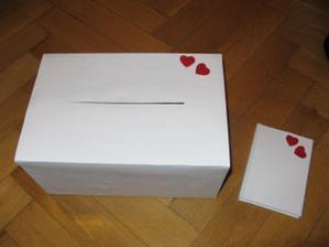 Krabička na přání a knížečka hostů... vlastní výroba