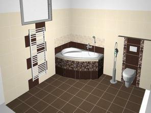 vizualizácia kúpelne - obklad Eufória