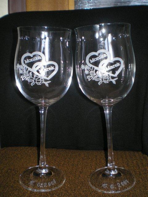 Monika a Marek - naše svadobné poháre