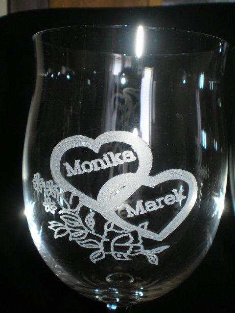 Monika a Marek - ďakujem kamarátke Lilke za krásny motív na gravírovanie