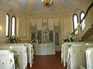 Andělská kaple zámeček Doubí