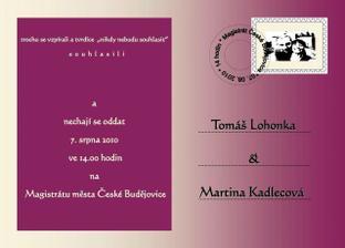 Svatební oznámení - Made in by VEVERUSKA
