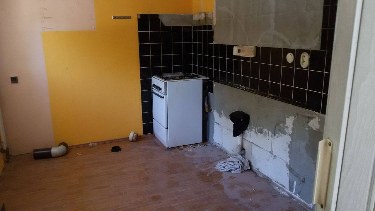 Naša rekonštrukcia - vyprataná kuchyňa
