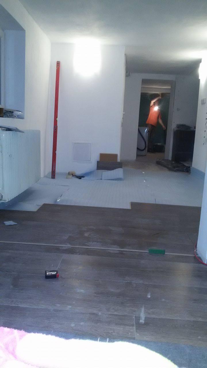 Naša rekonštrukcia - kladie sa podlaha