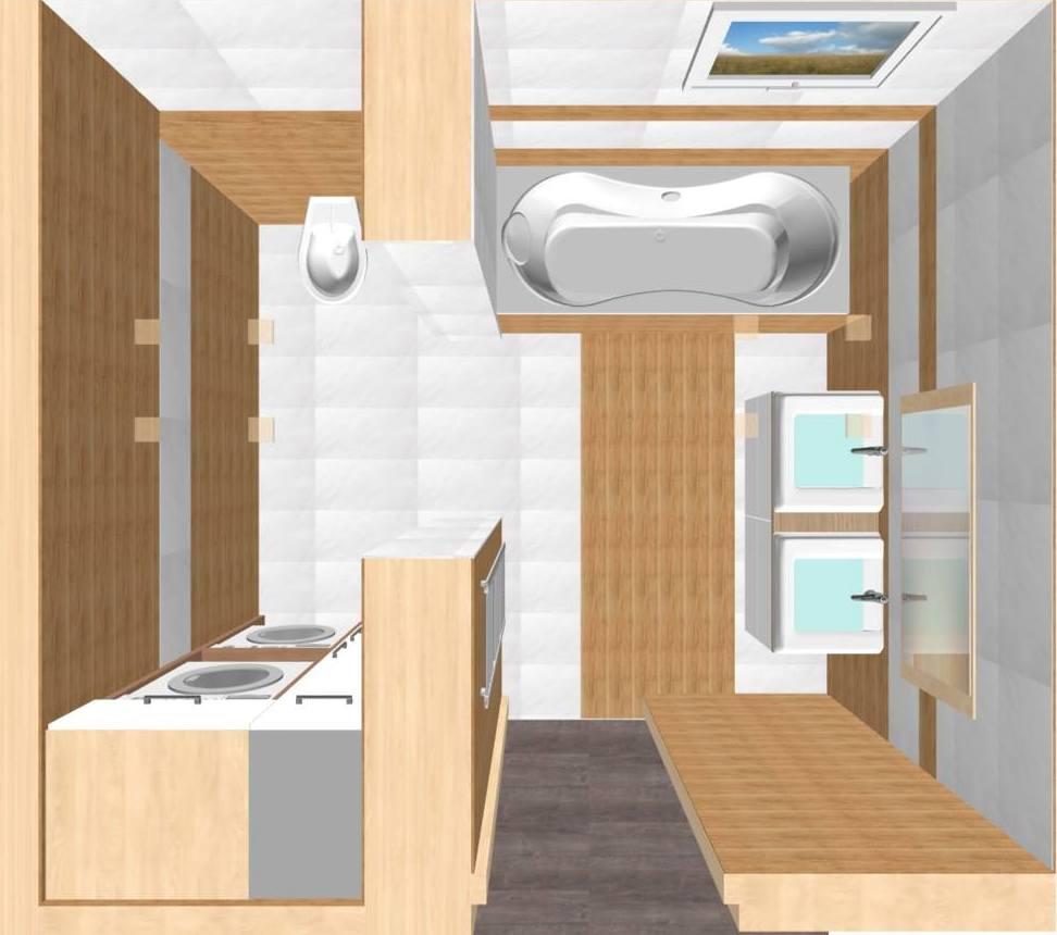 Naša rekonštrukcia - keďže kúpelňu ešte nemáme hotovú, iba osadenú sanitu, tak tu sú 3D návrhy :)
