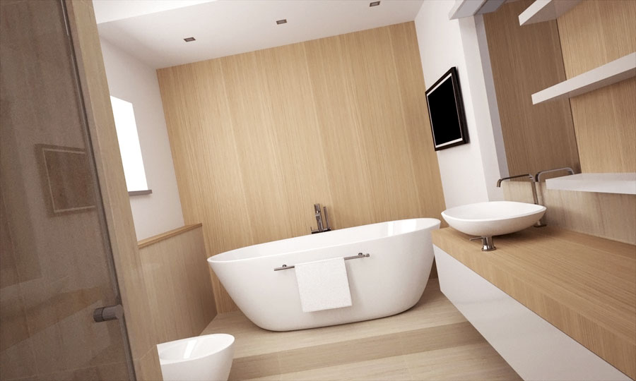 Naša rekonštrukcia - kúpelňa bude v kombinácii svetlý drevodekor + biela