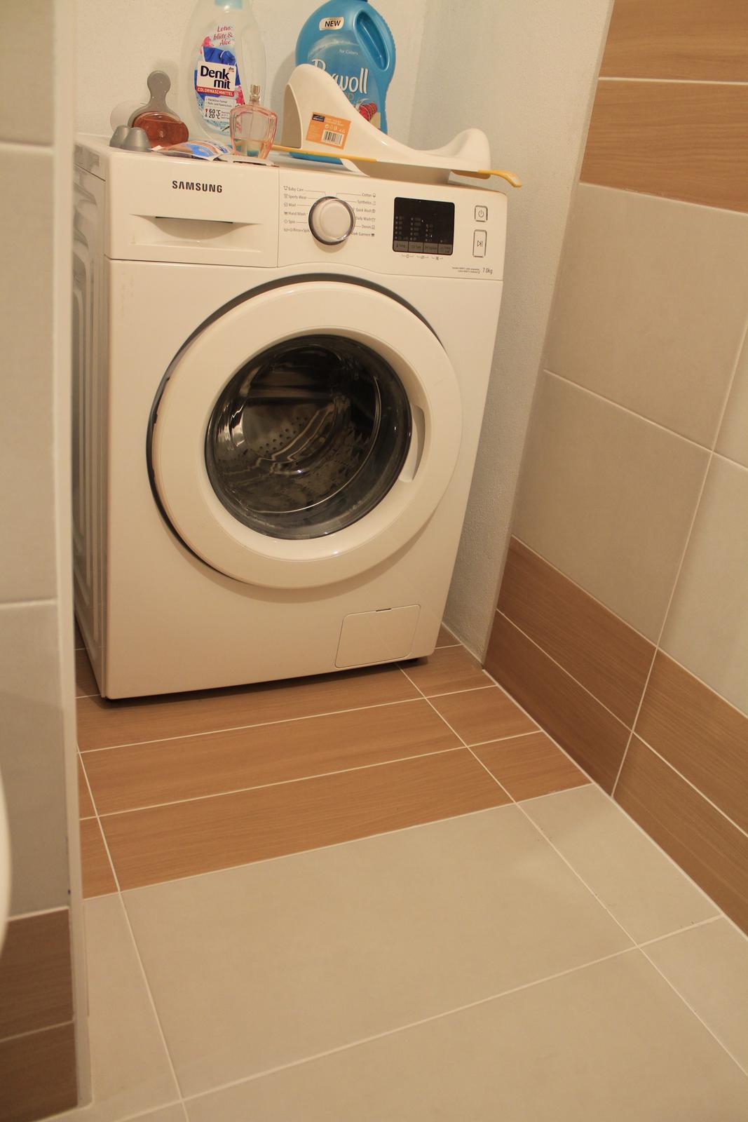 Naša rekonštrukcia - na práčku príde ešte časom sušička, plus nejaký úložný priestor