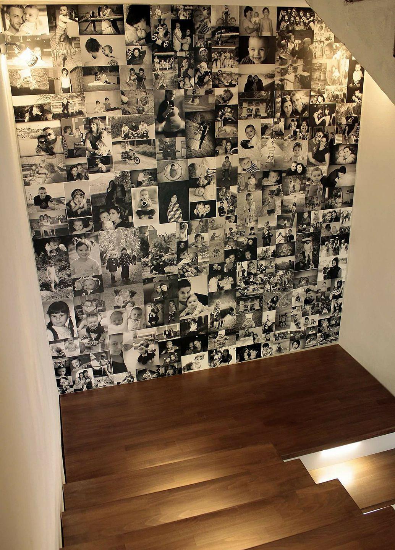 Naša rekonštrukcia - na stenu medziposchodia sme si dali vyrobiť fototapetu z našich fotografií :)