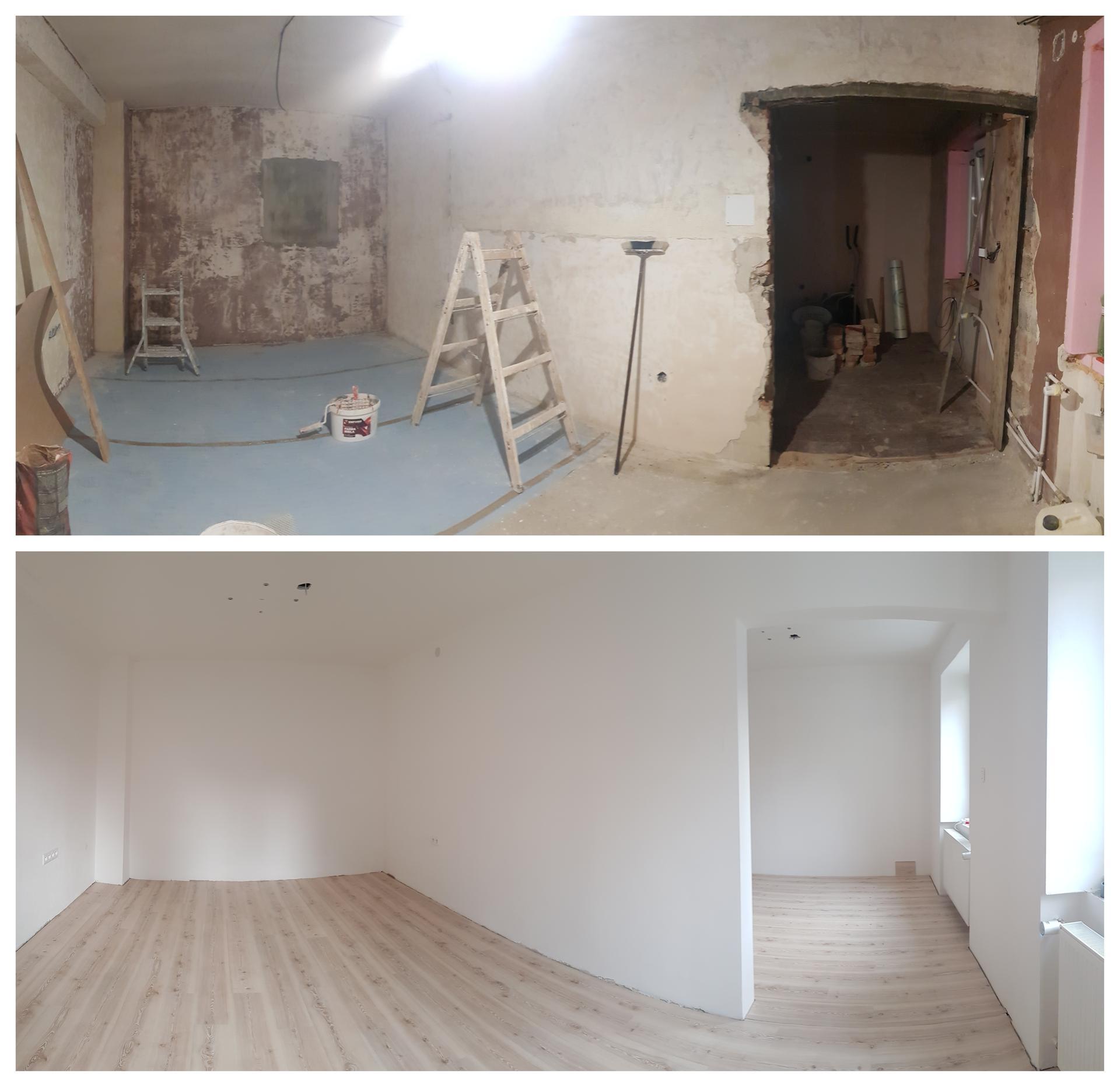 Naša rekonštrukcia - ... rozdiel 3 týždne 😊