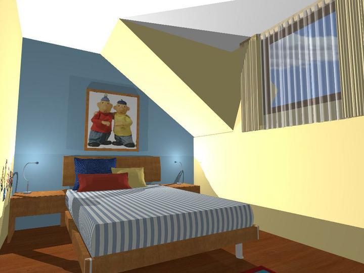 """Matúškova herňa + detska spálňa - navrhy od """"Fra"""" - pohlad ako od dveri, velmi sa mi to paci"""