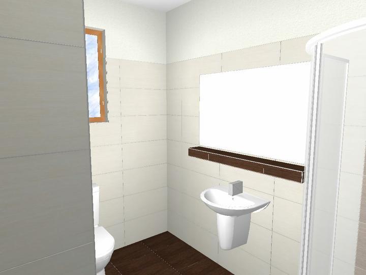 Kúpeľna - vizualizacia a realita - dolná kúpeľna-som spokojná s murovanou poličkou