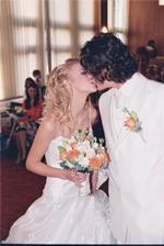 Prvá manželská pusinka :-)